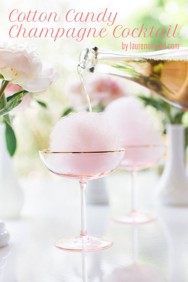 Pin Ups and Link Love: Cotton Candy Cocktail | knittedbliss.com