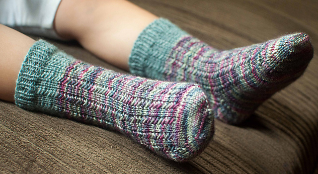 Modification Monday: Kiddo Charade Socks | knittedbliss.com