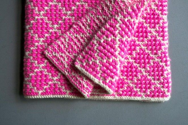 Pin Ups and Link Love: Mosaic Blanket| knittedbliss.com