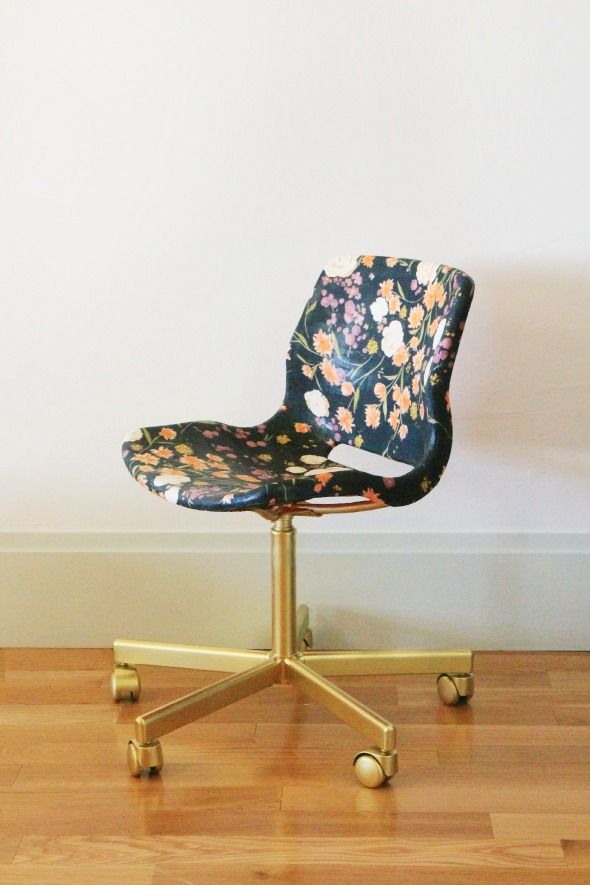 Pin Ups and Link Love: Office Chair DIY| knittedbliss.com