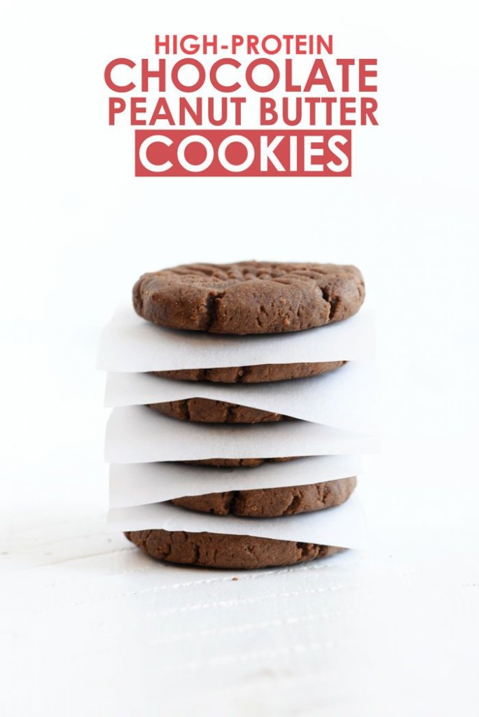 Pin Ups and Link Love: High Protein Chocolate Peanut Butter Cookies| knittedbliss.com