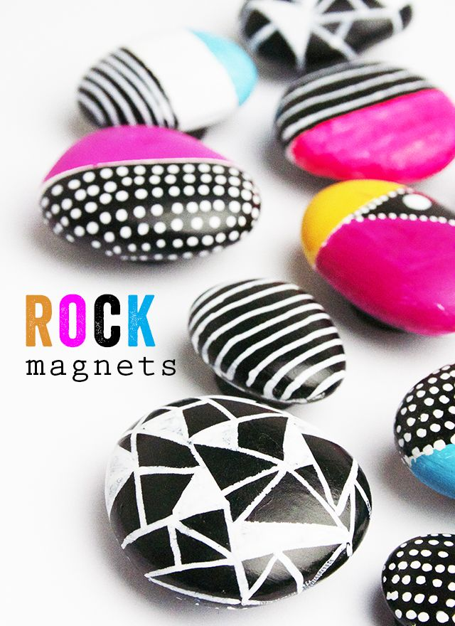 Pin Ups and Link Love: Rock Magnets | knittedbliss.com