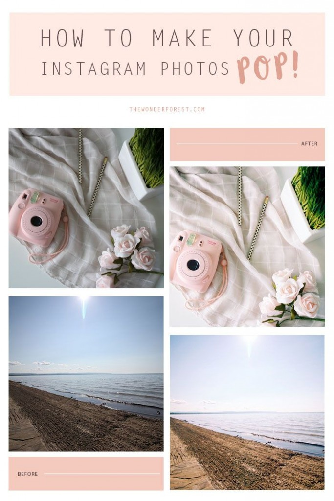 Pin Ups and Link Love: How to Make your Instagram Photo Pop | knittedbliss.com