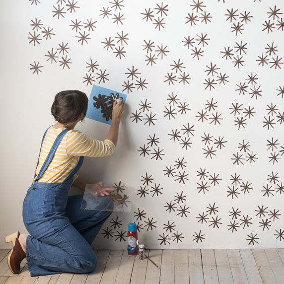 Pin Ups and Link Love: Wall Stencil   knittedbliss.com