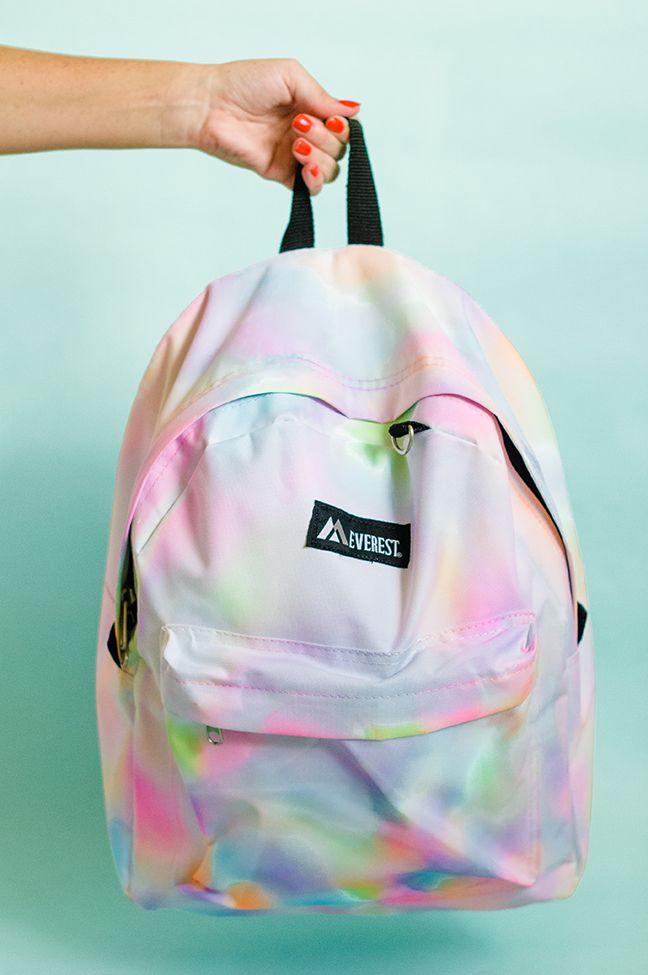 Pin Ups and Link Love: DIY rainbow backpack | knittedbliss.com