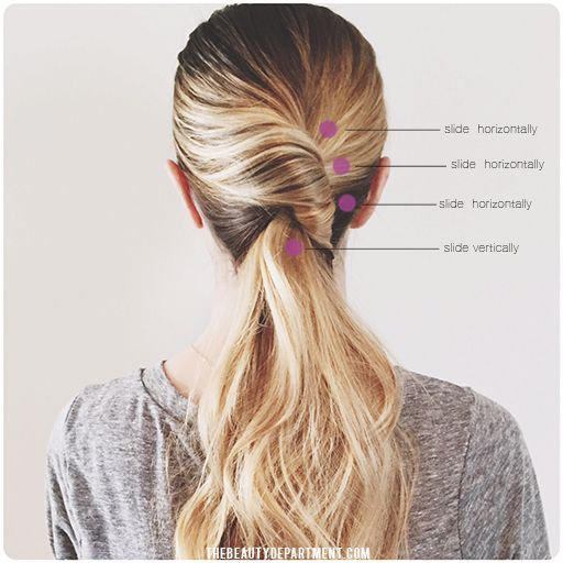 Pin Ups and Link Love: Twisted Ponytail| knittedbliss.com