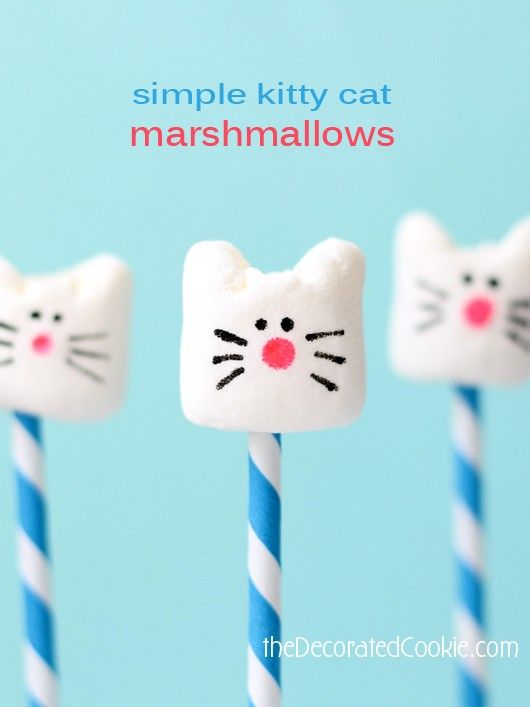 Pin Ups and Link Love: Marshmallow Cats | knittedbliss.com