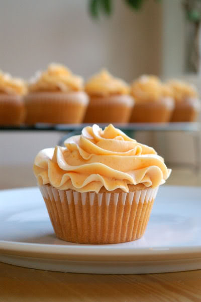 Pin Ups and Link Love: Peach Cupcakes | knittedbliss.com