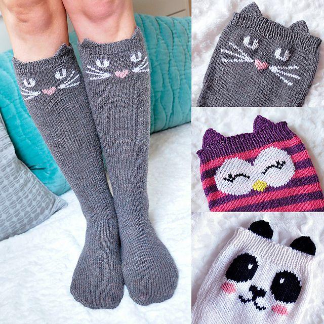 Pin Ups and Link Love: Animal Socks | knittedbliss.com