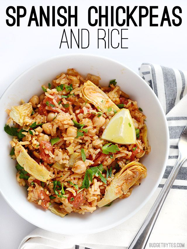 Pin Ups and Link Love: Spanish Chickpeas and Rice| knittedbliss.com
