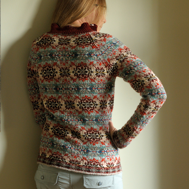 Modification Monday: Fair Isle Collared Pullover | knittedbliss.com
