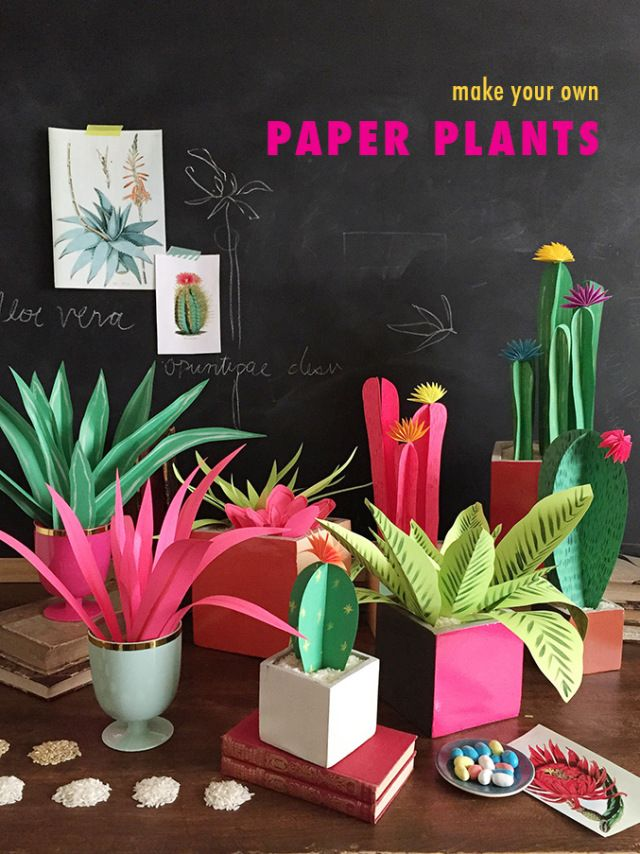 Pin Ups and Link Love: Paper plants DIY | knittedbliss.com